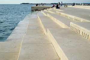 zadar, croatia, music stairs