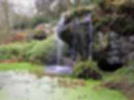 Rock close, Blarney castle, garden, waterfall, Cork, ireland