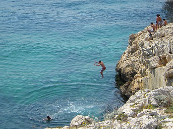 marseille, france, cliff jumping