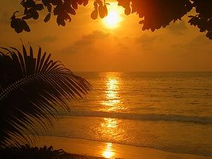 sunrise, ko samui, thailand, beach
