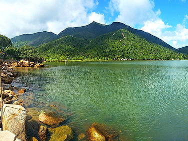 hong kong, trail, mountain, hiking, view, lantau, tung o ancient walk, water, harbour