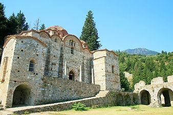 mystras, greece, ruins