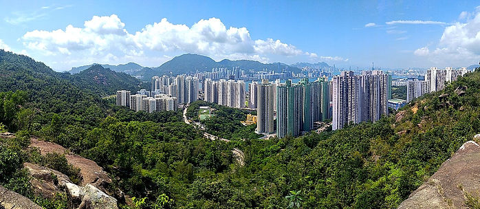 wilson trail, hong kong, hiking, mountains, view, city