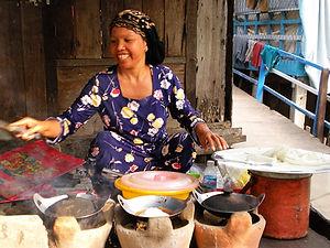 Coconut rice pancakes, Mekong delta, vietnam