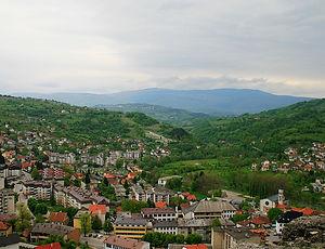 jajce, bosnia, view