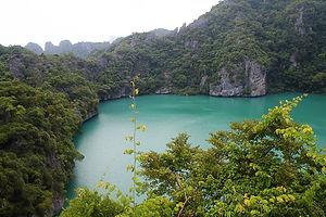 emerald lake, island,, thailand