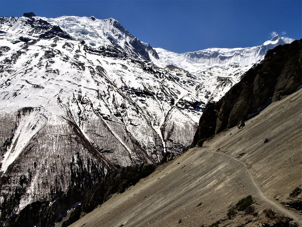 Crossing the scree slopes