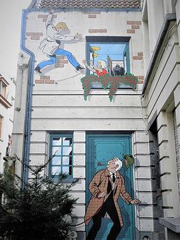 Comic strip, wall, mural, painting, brussels, belgium
