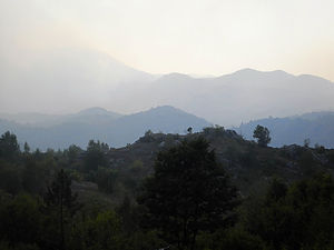 valley, smoke, montenegro