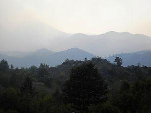 valley, smoke, montenegro
