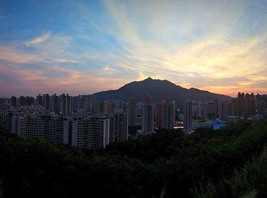 hiking, trail, hong kong, mountain, view, maclehose, scenery, castle peak, sunset