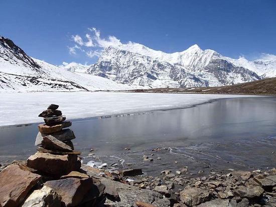 Nepal, annapurna, ice lake