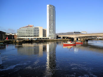 Lagan river, belfast, ireland