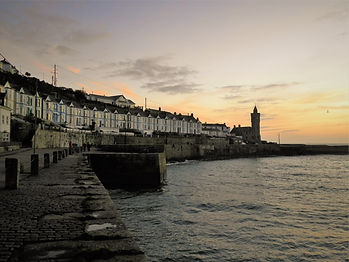 Porthleven, cornwall, sunset, england, port