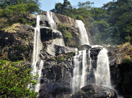 View from the base of the falls