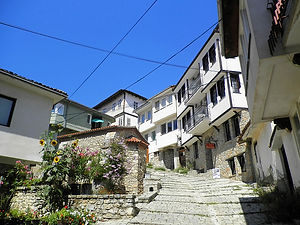 Old town, ohrid, macedonia