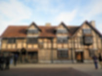 Shakespeare's birth house, stratford, england