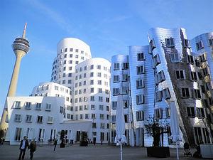 Neuer Zollhof, dusseldorf, germany, architecture