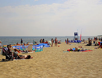 Stogi beach, gdansk, poland