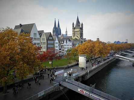 Cologne, germany, rhine, river, water