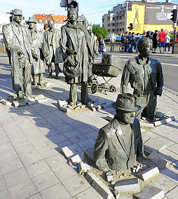 Passage sculpture, wroclaw, poland