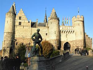 Steenplein, antwerp, belgium, castle