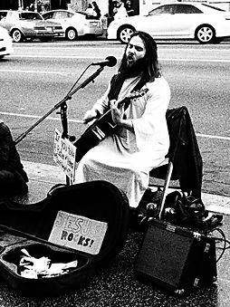 Jesus, walk of fame, LA