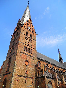 malmo, sweden, st petri church