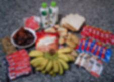 food, fuel, running