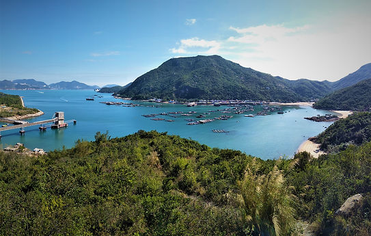lamma island, hong kong, hiking, mountains, scenery, water, sea, view
