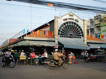 Downtown Chau Doc, mekong delta, vietnma