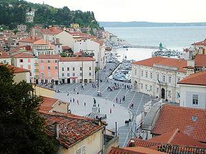 piran, slovenia, centre square