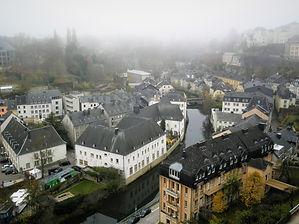 View from Chemin de la Corniche, luxembourg city, luxembourg