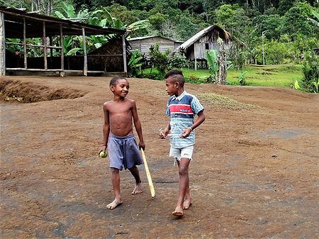 kokoda, trail, track, papua new guinea, isurava, children, play