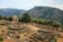 temple of athena, delfi, greece, ruins