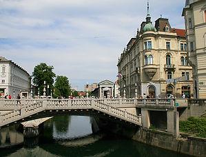 ljubljana, slovenia, bridge, buildings