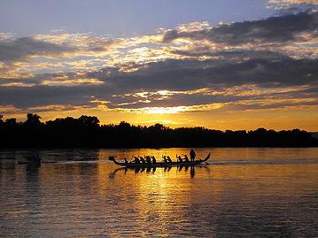 danube, sunset, river, hungary