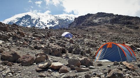 Looking up to Kilimanjaro