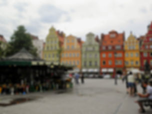 Plac Solny, centre square, wroclaw, poland