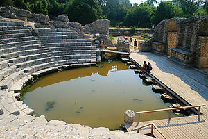 Butrint, albania, ruins, theatre