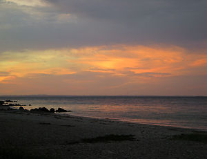 denmark, arhus, Marselisborg, beach, sunset