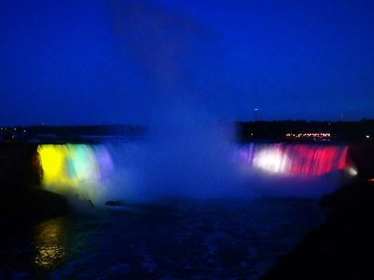 niagara falls, canada, night