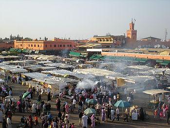 Marrakesh, centre square, market, morocco