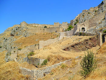 Acrocorinth, corinth, greece