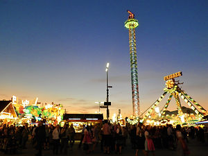 rides, oktoberfest, munich, germany