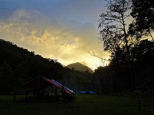 kokoda trail, track, papua new guinea, mountain, jungle, trek, hike, sunset