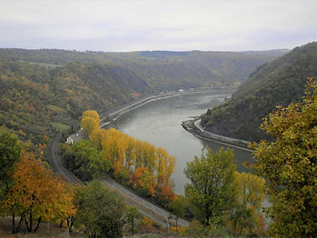 Loreley, rhine valley, river, view