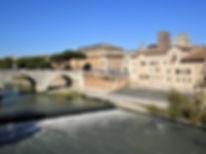Isola Tiberina, Trastevere, rome, italy