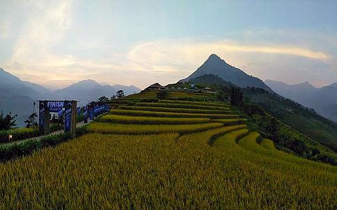 race, running, mountain, hills, trees, view, vietnam, sapa