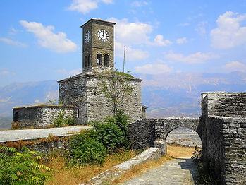 Clock tower, Gjirokastra castle, albania